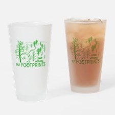 Leave Nothing but Footprints Green Drinking Glass