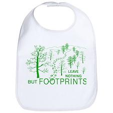 Leave Nothing but Footprints Green Bib