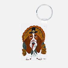 Basset Hound Thanksgiving Turkey Keychains
