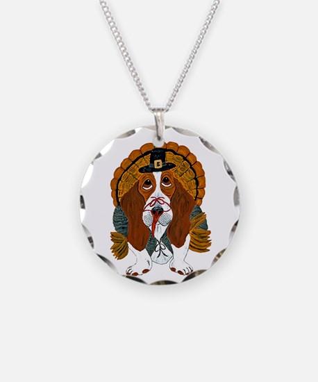 Basset Hound Thanksgiving Necklace