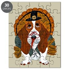 Basset Hound Thanksgiving Turkey Puzzle