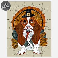 Basset Hound Thanksgiving Turkey Puzzle