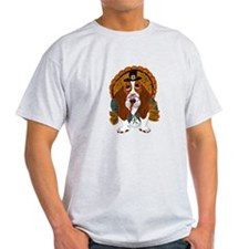 Basset Hound Thanksgiving Turkey T-Shirt