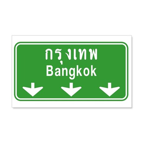 Bangkok Ahead Thai Sign 20x12 Wall Decal