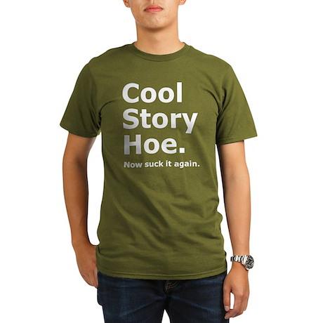 Cool Story Hoe Humorous Organic Men's T-Shirt (dar