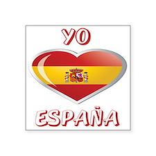 """YO C ESPANA 0.png Square Sticker 3"""" x 3"""""""