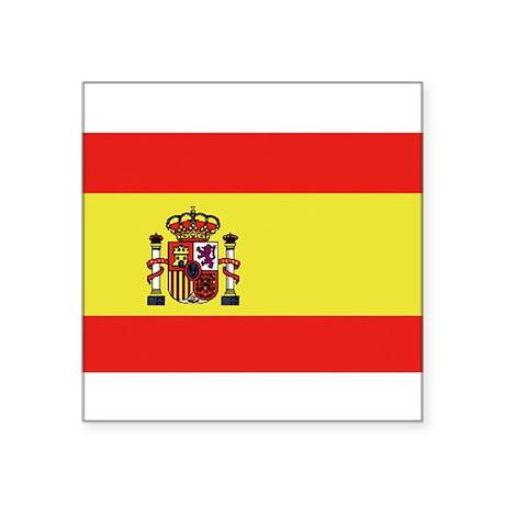 "Bandera de España Square Sticker 3"" x 3"""
