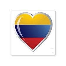 """C COLOMBIA.png Square Sticker 3"""" x 3"""""""