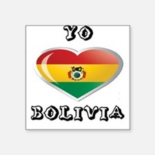 "YO C BOLIVIA 0.png Square Sticker 3"" x 3"""