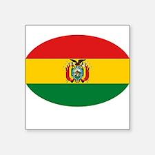 "BOLIVIA OVAL.png Square Sticker 3"" x 3"""