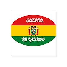 """BOLIVIA TE QUIERO.png Square Sticker 3"""" x 3"""""""