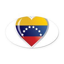 C VENEZUELA.png Oval Car Magnet