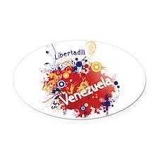 RETRO VENEZUELA.png Oval Car Magnet
