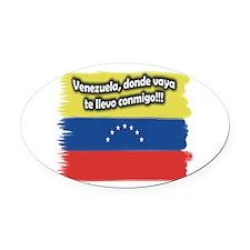 VENEZUELA.png Oval Car Magnet