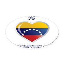 YO C VENEZUELA.png Oval Car Magnet