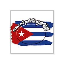 """Cuba Square Sticker 3"""" x 3"""""""