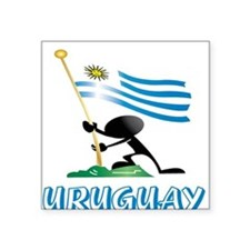 "URUGUAY MAN 0.png Square Sticker 3"" x 3"""