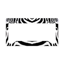 Zebra print 4 License Plate Holder