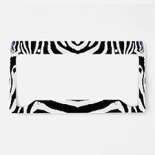 Zebra print 4 License Plate Holder