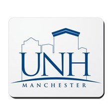 UNH Manchester Line Art logo Mousepad