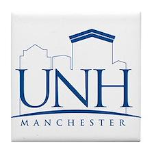 UNH Manchester Line Art logo Tile Coaster