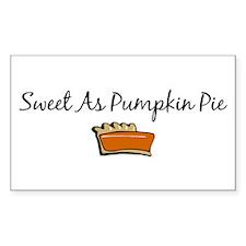 Sweet As Pumpkin Pie Rectangle Decal