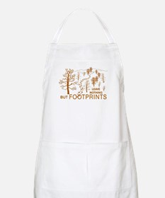 Leave Nothing but Footprints Brown Apron
