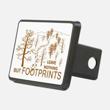 Leave Nothing but Footprints Brown Hitch Cover
