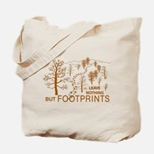 Leave Nothing but Footprints Brown Tote Bag