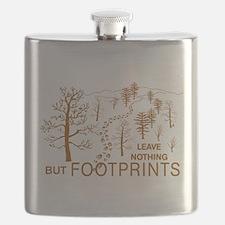 Leave Nothing but Footprints Brown Flask