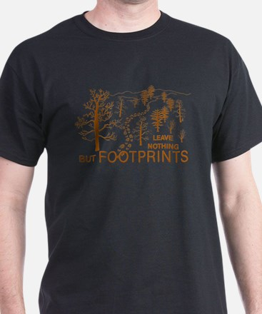 Leave Nothing but Footprints Brown T-Shirt
