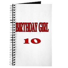 Birthday Girl 10 Journal
