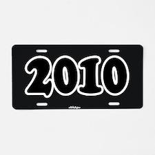 2010 License Aluminum License Plate
