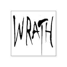 "Wrath Square Sticker 3"" x 3"""