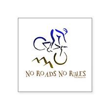NO ROADS NO RULES Rectangle Sticker