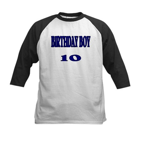 Birthday Boy 10 Kids Baseball Jersey