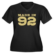 Made In 92 Women's Plus Size V-Neck Dark T-Shirt