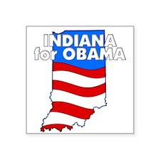 "Indiana for Obama Square Sticker 3"" x 3"""