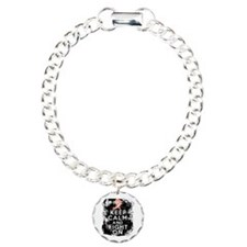 Uterine Cancer Keep Calm and Fight On Bracelet
