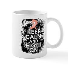 Uterine Cancer Keep Calm and Fight On Mug