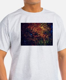 Fall leaves in stain glass T-Shirt