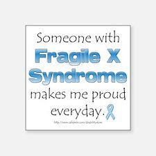 Fragile X Pride Rectangle Sticker