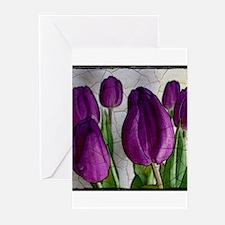 Purple Tulips Greeting Cards (Pk of 10)