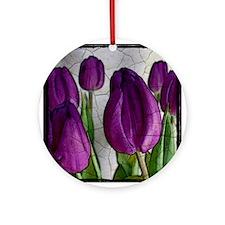 Purple Tulips Ornament (Round)