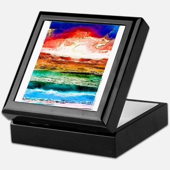 Rainbow tide Keepsake Box
