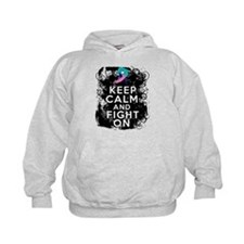 Thyroid Cancer Keep Calm and Fight On Hoodie
