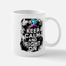 Thyroid Cancer Keep Calm and Fight On Mug
