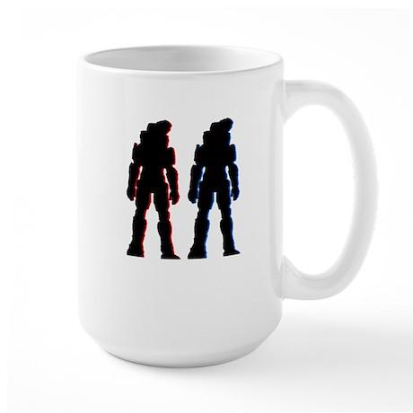 Red and Blue Large Mug
