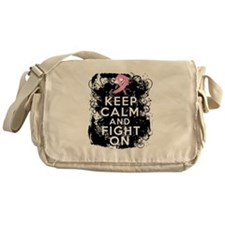 Breast Cancer Keep Calm and Fight On Messenger Bag