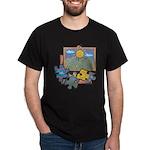 Jigsaw Puzzle Black T-Shirt